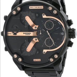Diesel Mr. Daddy Black with Rose Gold watch